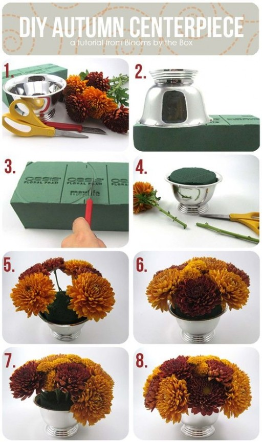 How to make Autumn Centerpiece step by step DIY tutorial instructions