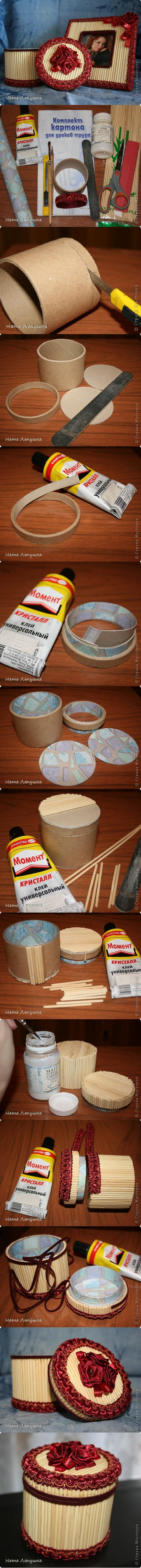 How to make Beautiful Round storage Boxes step by step DIY tutorial instructions