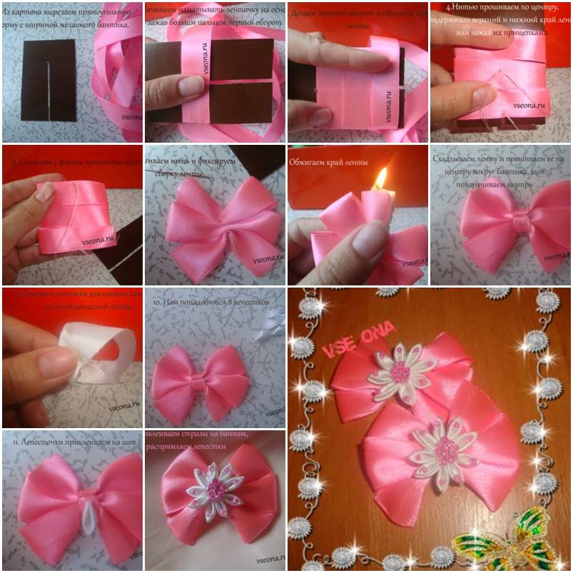 how to make beginner flower bow step by step diy tutorial