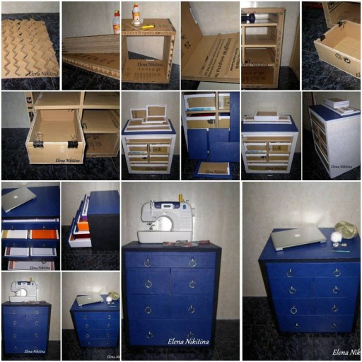 pdf build a cardboard chest of drawers plans free