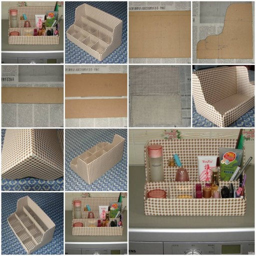 How to make Cardboard Shelves Organizer DIY tutorial instructions thumb