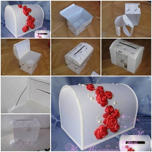 How to make Cardboard storage Box Art DIY tutorial instructions thumb