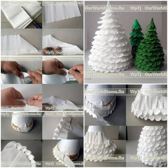 How to make corrugated paper christmas tree step by step for Do it yourself christmas tree decorations