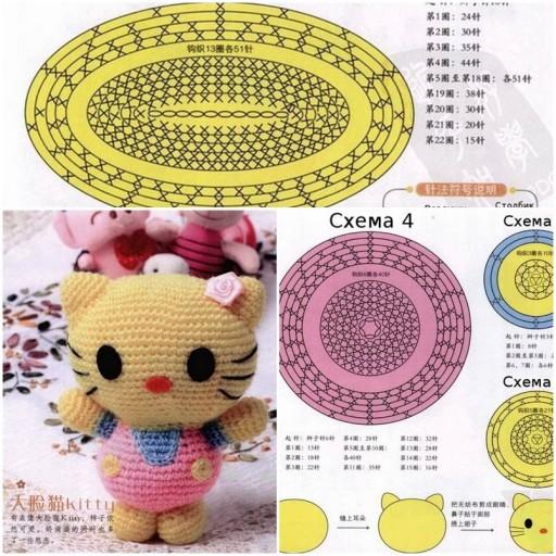 How to make Crochet Hello Kitty Gift DIY tutorial instructions thumb