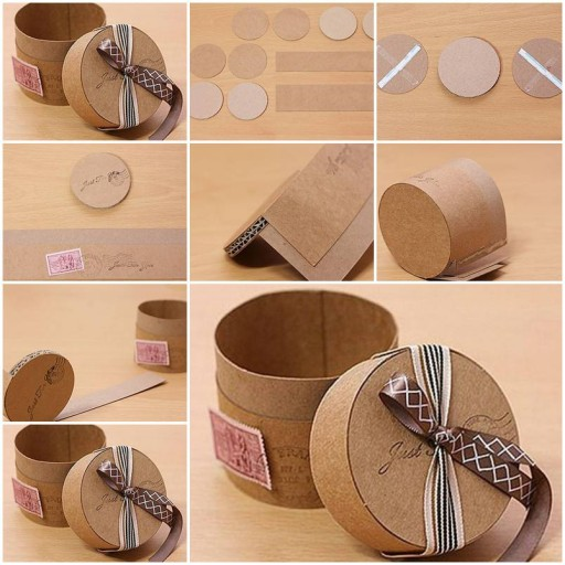 How to make Cute Cardboard Gift Box DIY tutorial instructions thumb