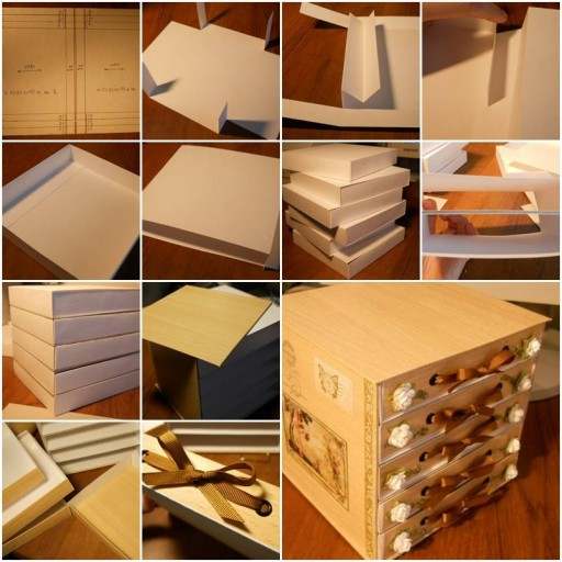 How to make Cute Cardboard storage Chest DIY tutorial instructions thumb