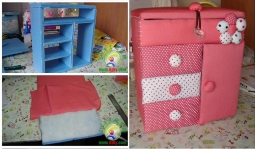 How to make Cute Toy Dresser step by step DIY tutorial instructions thumb