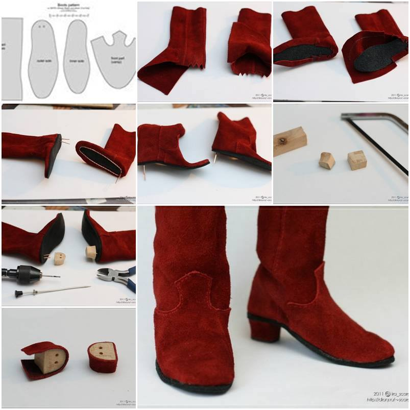 How To Make Doll Boot Step By Step Diy Tutorial Instructions Thumb