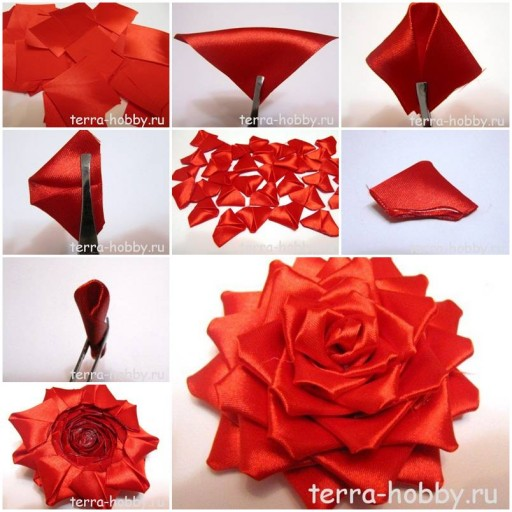 How to make Elegant Ribbon Rose for Wedding DIY tutorial instructions thumb