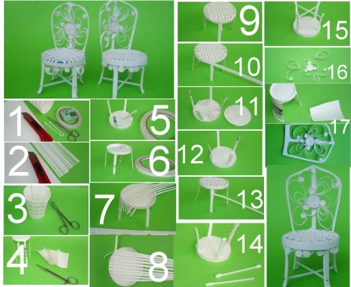 How to make European style chairs with dixie cups step by step DIY tutorial instructions