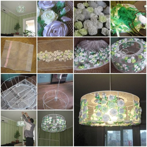 How to make Flower Chandelier Lighting DIY tutorial instructions thumb