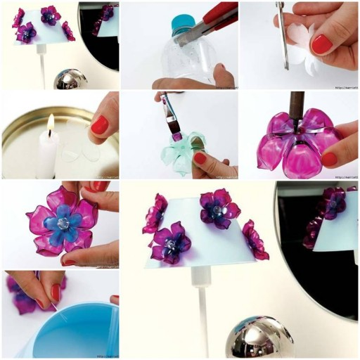 How to make Flowers of Recycled Plastic Bottles DIY tutorial instructions thumb
