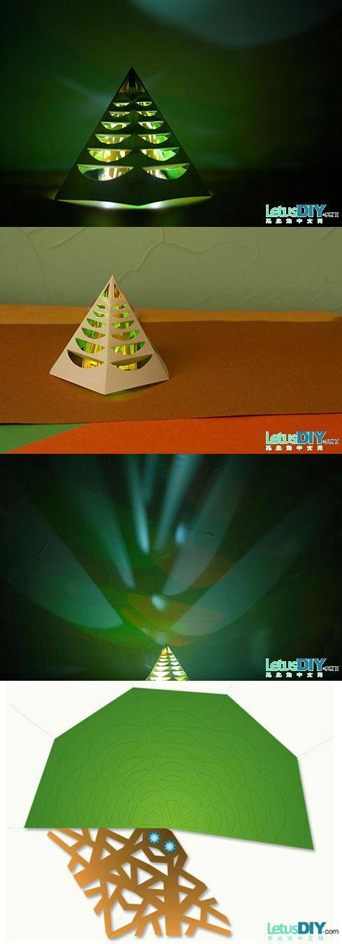 How to make Glowing Christmas Tree step by step DIY tutorial instructions