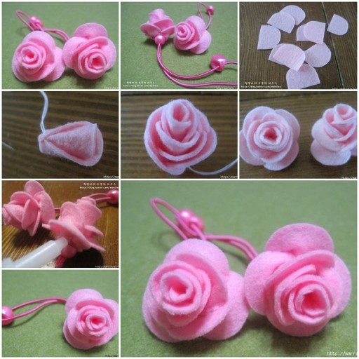 How to make Hair Flower Headbands DIY tutorial instructions thumb