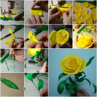Rose how to instructions part 3 for Handmade things step by step