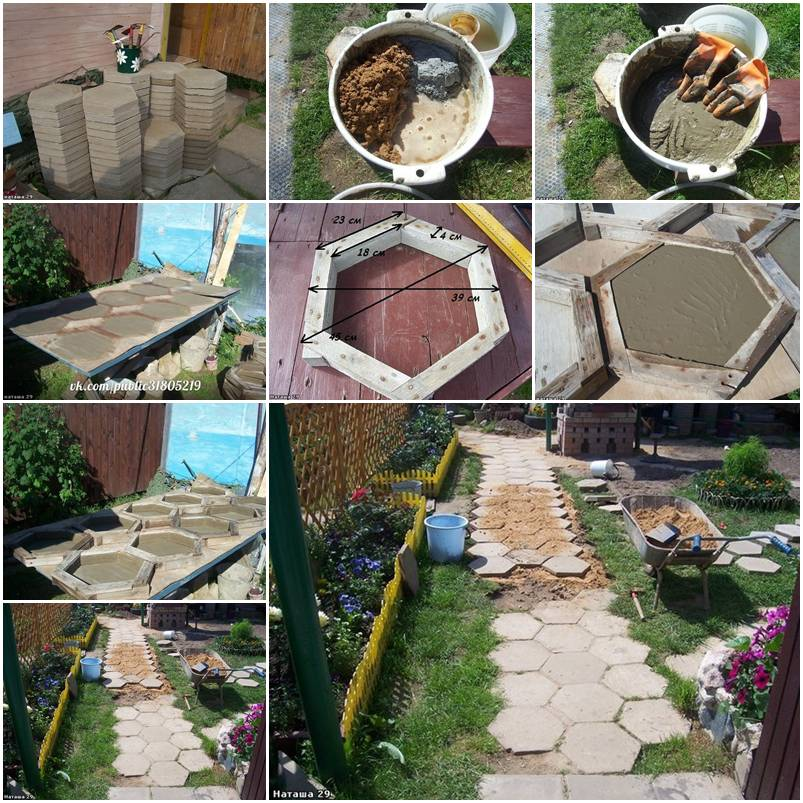 how to make hexagon paving stones step by step diy