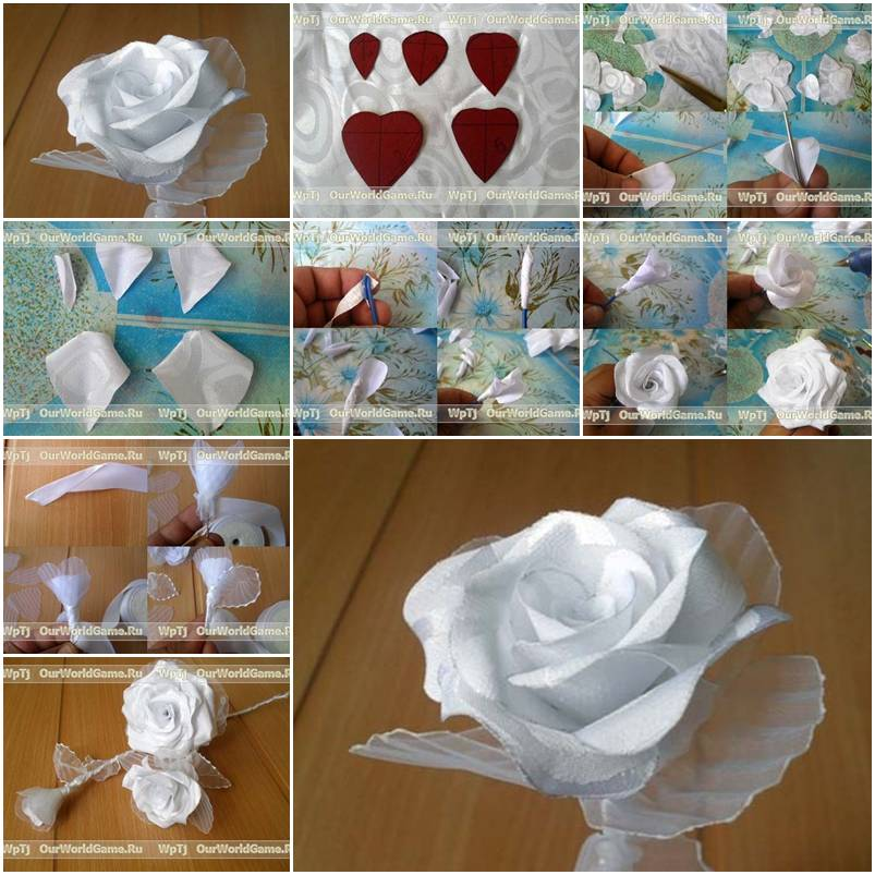 How To Make A Ribbon Rose Craft Techniques