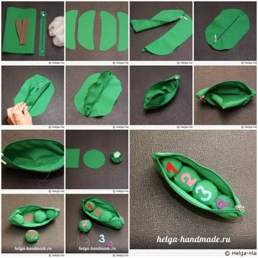 How to make Pea toys DIY tutorial instructions thumb