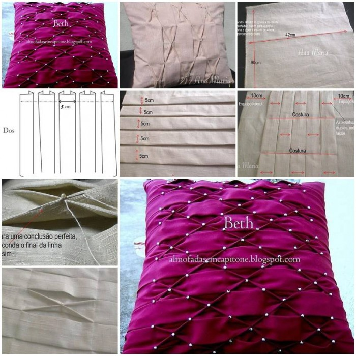Diy Throw Pillow Instructions : How to make Pillow Puffed Sleeves Designs DIY tutorial instructions thumb ? How To Instructions