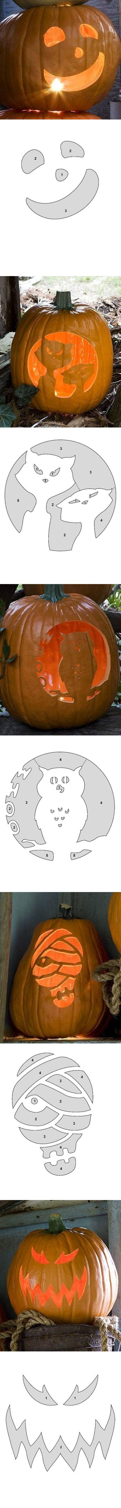 How to make Pumpkin Carving Patterns DIY tutorial instructions
