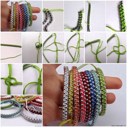 How to make Rainbow Friendship Bracelets step by step DIY tutorial instructions thumb