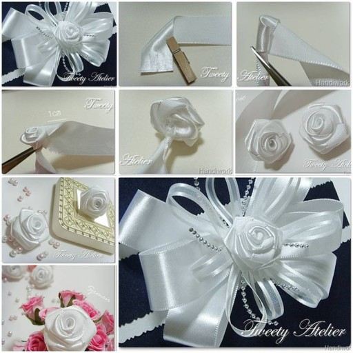 How to make Rose of Satin Ribbon DIY tutorial instructions thumb