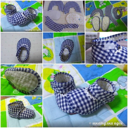 How to make Slippers for Babies step by step DIY tutorial instructions thumb