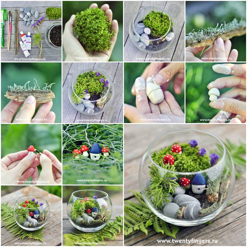 How to make small evergreen step by step diy tutorial instructions how to instructions for How to make a miniature garden