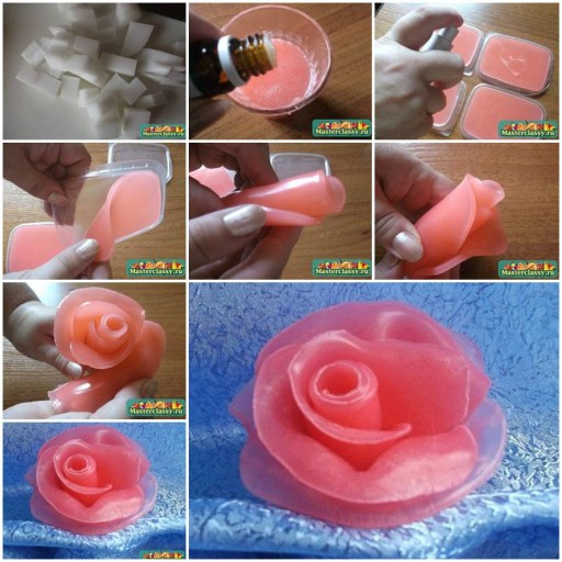 How to make Soap Flowers Internet Tutorial instructions thumb