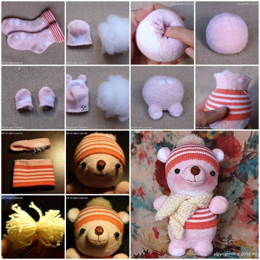 How to make Sock Doll Winnies DIY tutorial instructions thumb