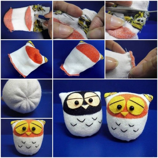 How to make Sock Owl DIY tutorial instructions thumb