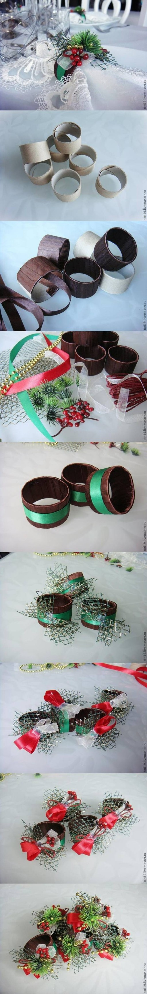 How to make Toilet Paper Roll Custom Napkin Rings DIY tutorial instructions