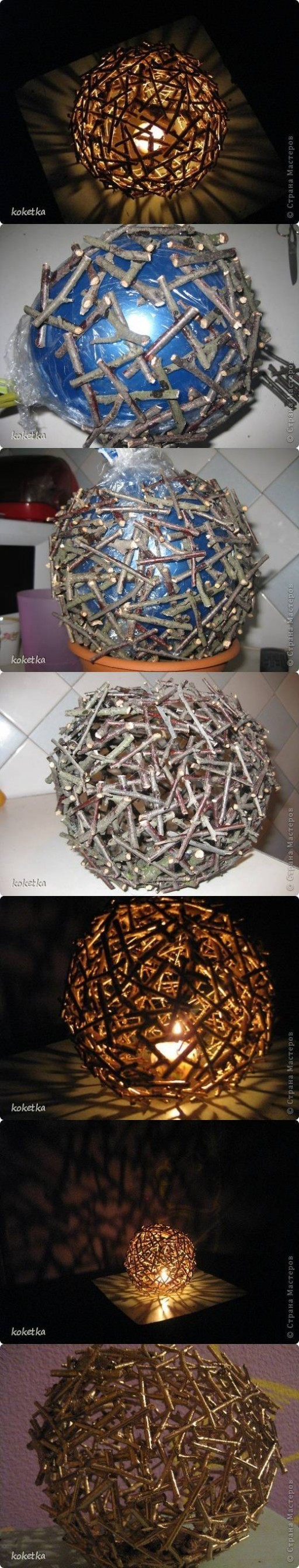 How to make Tree stickes Lighting DIY tutorial instructions