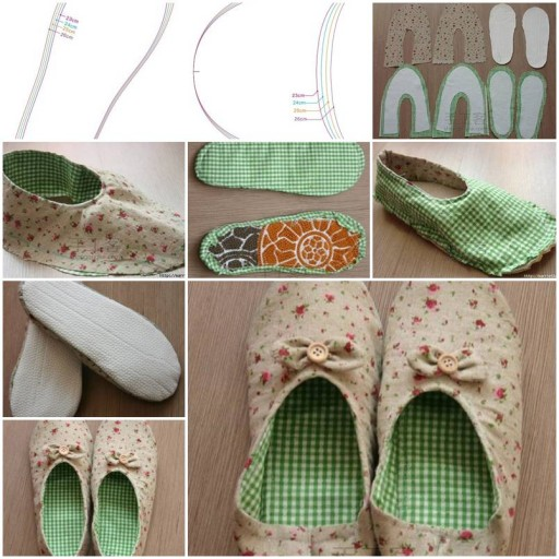 How to make Womens House Slippers DIY tutorial instructions thumb
