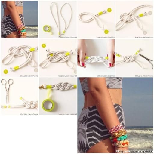 How to make beautiful Knots custom Bracelets DIY tutorial instructions thumb