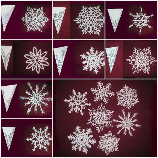 How to make beautiful Snowflakes Paper craft DIY tutorial instructions thumb