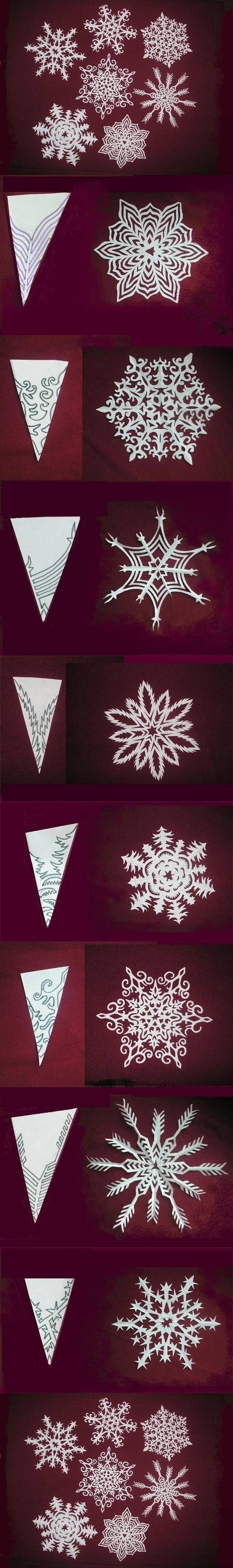How to make beautiful snowflakes paper craft diy tutorial for Diy paper crafts tutorials