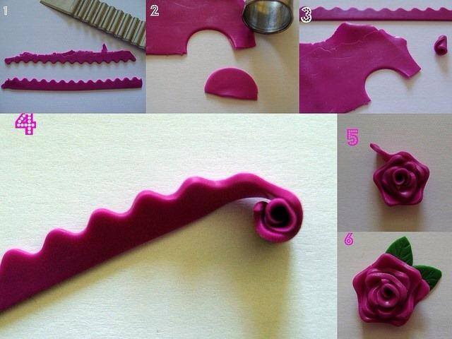 How to make clay rose flowers how to instructions for Flower making ideas step by step