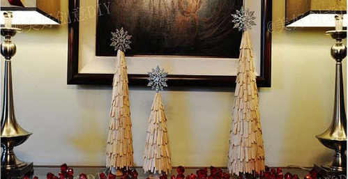 How to make creative Christmas trees with popsicle sticks step by step DIY tutorial instructions (2)