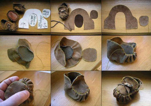 How To Make Doll Shoes Kids Moccasins Step By DIY Tutorial Instructions
