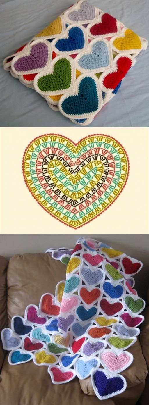 How to make handmade Heart custom Baby Blankets DIY tutorial instructions