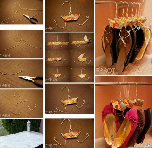 How to make hanger to store shoes step by step DIY tutorial instructions