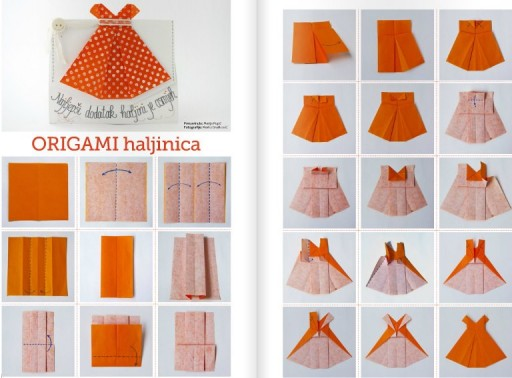 How to make origami girls skirts step by step DIY tutorial instructions