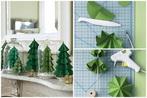 How to make paper craft Christmas trees step by step DIY tutorial instructions thumb