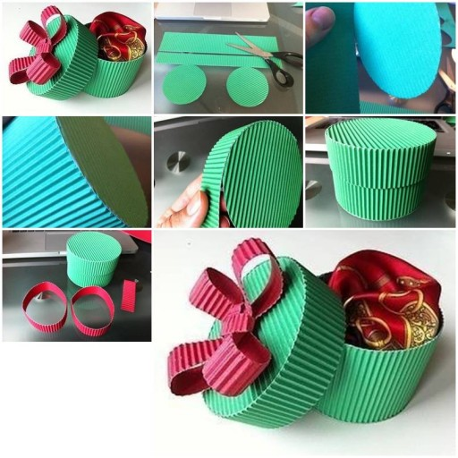 How to make pretty Corrugated boxes step by step DIY tutorial instructions thumb