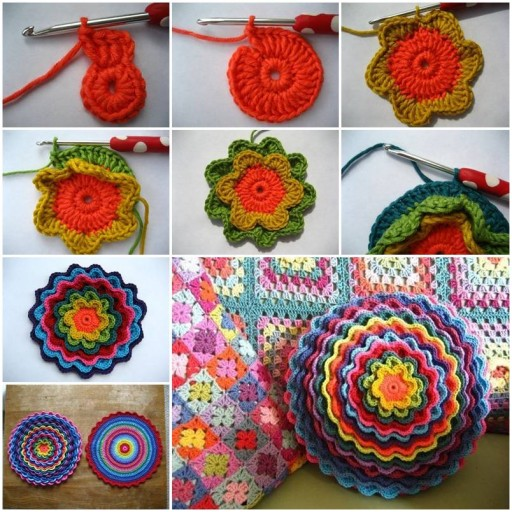 How to make pretty Crochet Flower DIY tutorial instructions thumb