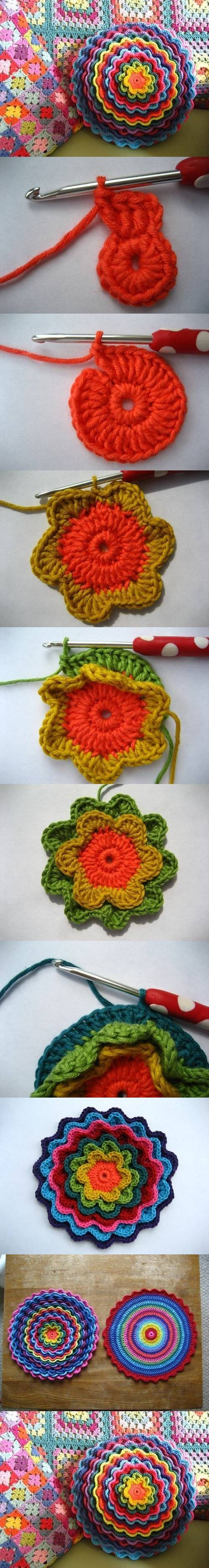 How to make pretty Crochet Flower DIY tutorial instructions