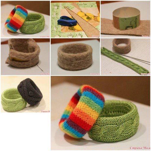 How to make pretty Crochet Wristband DIY tutorial instructions thumb