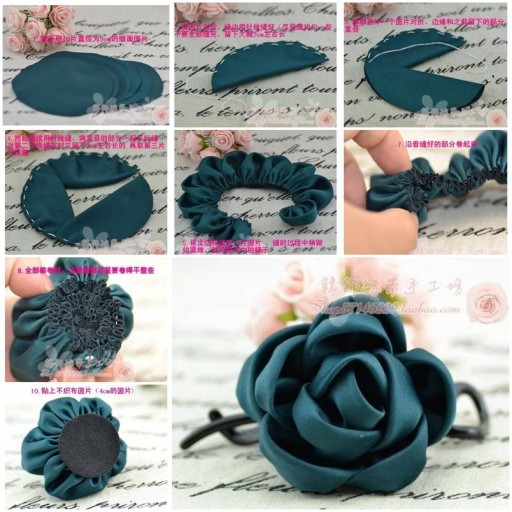 How to make simple Fabric Roses DIY tutorial instructions thumb