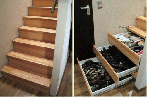 How to make your stairs into storage space step by step DIY tutorial instructions